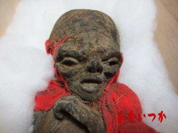 チベットのミイラ顔アップ