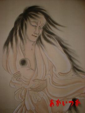 幽霊の掛け軸産女2