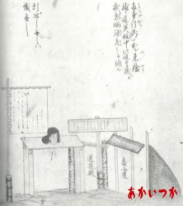 獄門の準備の図